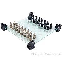 Vampir-Werwolf-Glas-Schach-Set