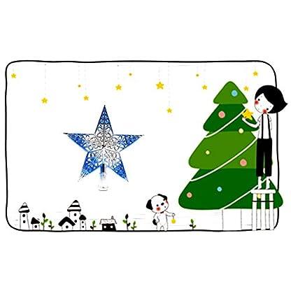 hou-zhi-liang-Christbaumspitze-aus-Kunststoff-hohl-Stern-Dekoration-fr-Weihnachtsbaum-silberfarben-und-Blau