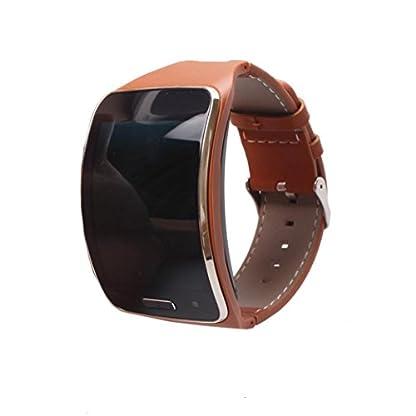 Echtleder-Armband-fr-Samsung-Gear-S-SM-R750-Siswong-Schnelle-Freigabe-Sport-Trageschlaufe-Einstellbar-Haltbar-Uhrenarmband-fr-Ersatz