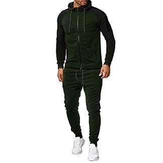LILICAT-Herren-Jogging-Anzug-Trainingsanzug-Jogginganzug-Sportanzug-Sportanzug-Jogging-Anzug-Hoodie-Sporthose-Mode-Freizeit-Reiverschluss-Sweatshirt-Sportswear