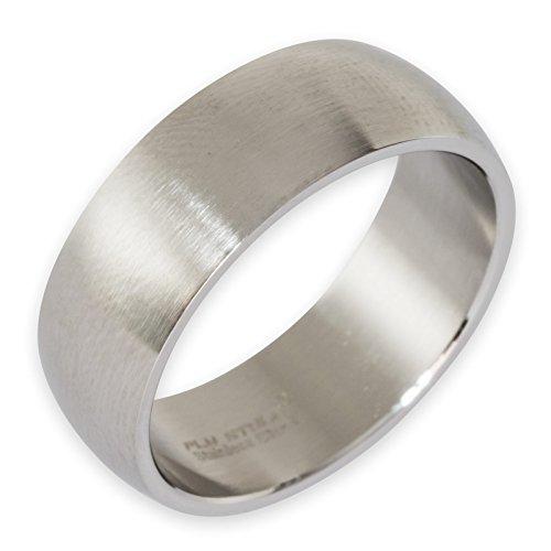 Fly Style Breiter Band-Ring Edelstahl Damen Herren 8mm 10mm 12mm breit silber risst014