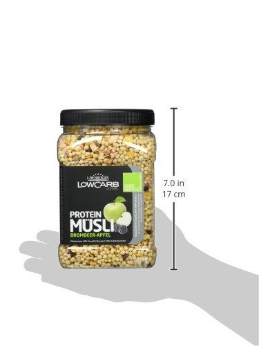 Layenberger LowCarb.one Protein Müsli Brombeer-Apfel, 3er Pack (3 x 550 g)