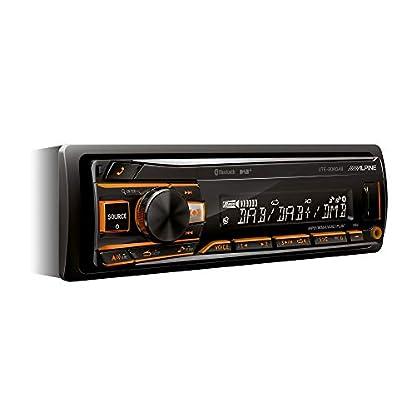 Alpine-Electronics-UTE-204DAB-Autoradio-1DIN-DAB-Bluetooth-Schwarz-RGB-Beleuchtung