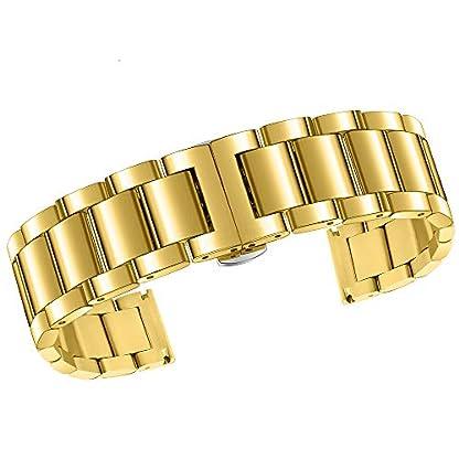 Edelstahl-Keramik-Uhrenarmband-gerade-Ende-Metall-Ersatz-Armband-mit-Butterfly-Schnalle-Faltschliee-fr-Mnner-Frauen-Silber-15mm