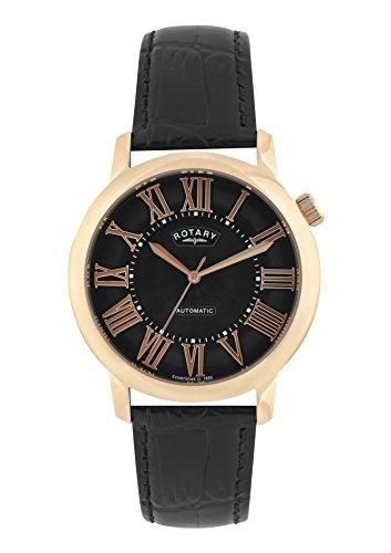 Rotary-Herren-Datum-klassisch-Automatik-Uhr-mit-Leder-Armband-GLE00001210S