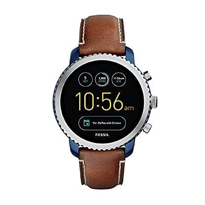 Fossil-Herren-Smartwatch-Q-Explorist-3-Generation-Leder-Dunkelblau-Klassische-elegante-Smartwatch-im-Vintage-Design-mit-diversen-Funktionen-Fr-Android-iOS