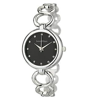 Louis-Villiers-Unisex-Analog-Quarz-Uhr-mit-Stoff-Armband-AL0583-04