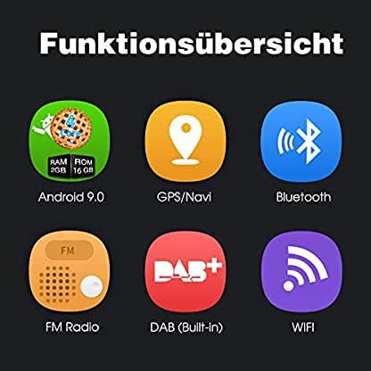 PUMPKIN-Android-90-Autoradio-Radio-fr-VW-mit-GPS-Navi-16GB-Europakarten-Und-DAB-Modul-Untersttzt-Bluetooth-USB-Android-Auto-WiFi-4G-MicroSD-2-Din-8-Zoll-Bildschirm