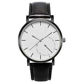 Souarts-Herren-Armbanduhr-Einfaches-Design-Geschfts-Casual-Quarz-Uhr-mit-Batterie-Schwarz-Band-Wei-Zifferblatt-Schwarz