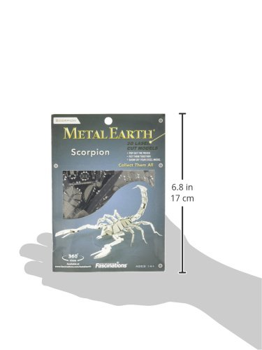 Fascinations-Metal-Earth-MMS070-502702-Scorpion-Konstruktionsspielzeug-1-Metallplatine-ab-14-Jahren