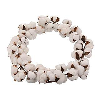 MeineBeauty-Baumwolle-Kranz-Trockene-Blumen-Baumwolle-Weihnachten-Krnze-Weihnachtsdeko-Trkranz-Dekokranz-Weihnachten-Garland
