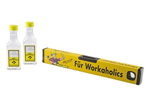 Weisenbach-Wasserwaage-Kartonage-Workaholic-2-x-20-ml-Waldhimbeergeist