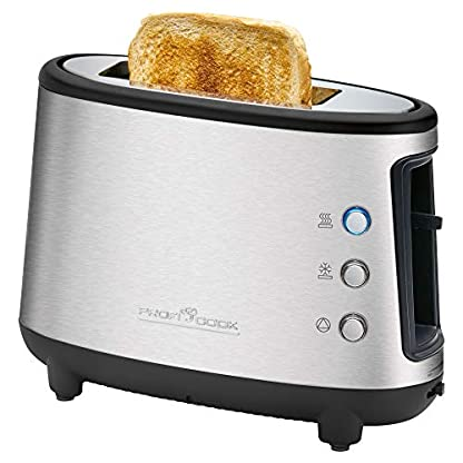 ProfiCook-PC-TA-1122-1-Scheiben-Toaster-Edelstahl-Brtchenaufsatz-Krmelschublade