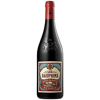 6x-075l-2017er-Les-Dauphins-Rserve-Rouge-Ctes-du-Rhne-AC-Frankreich-Rotwein-trocken