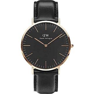 Daniel-Wellington-Herren-Analog-Quarz-Uhr-mit-Leder-Armband-DW00100127