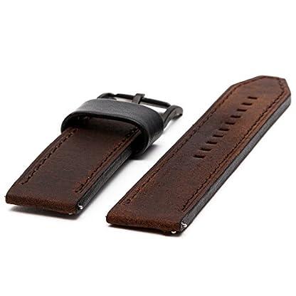 Fossil-Uhrenarmband-22mm-Leder-Braun-Uhrband-Set-FS-4656