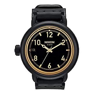 Nixon-Unisex-Armbanduhr-The-October-Matte-BlackOrange-Tint-Analog-Quarz-Kautschuk-A4881354-00