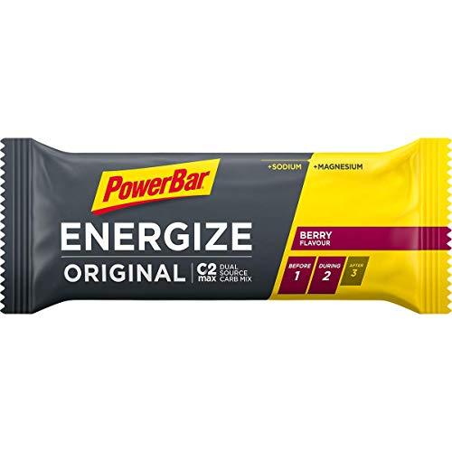 Energieriegel Energize mit Magnesium und Natrium – Fitness-Riegel, Kohlenhydrate Riegel mit Hafer und Früchten bei erhöhtem Energiebedarf – 25 x 55 g Berry