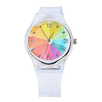 Homim-Damen-Armbanduhr-Mdchen-Kunststoff-Armband-Ziffer-Bunt-Zifferblatt-Batterie-Uhrwerk-Frauen-Analog-Quarzuhr