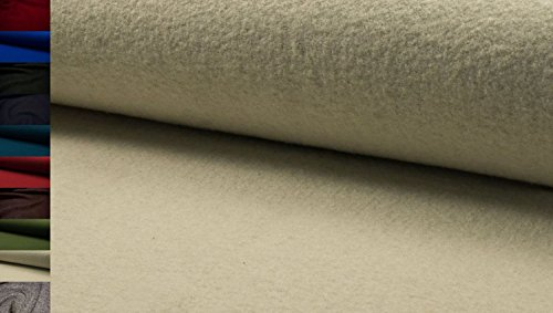 StoffBook ECRU HOCHWERTIG LODEN WALKLODEN STOFF 620G 100%SCHURWOLLE STOFFE, D546