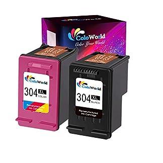 ColoWorld-304XL-Wiederaufbereitet-Ersatz-fr-HP-304XL-fr-HP-Deskjet-2620-2630-2632-3700-3720-3730-3733-3735-Envy-5030-5020-5032-Drucker-1-Schwarz-1-Farbe
