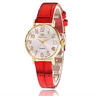 Sepbear-Damenuhr-Analog-Quarz-Armbanduhr-Zahlen-Ziffern-Casual-Mode-mit-Leder-Armband