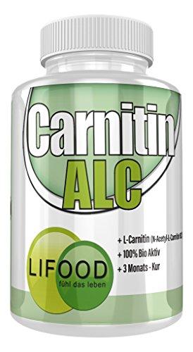 Lifood Swiss ALC, Acetyl L-Carnitin, 1er Pack (1 x 180 Kapseln)