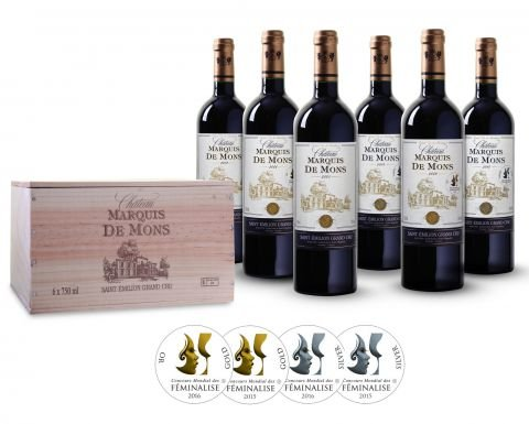 Wein-Probierpaket-Wein-Probierpaket-Chteau-Marquis-de-Mons-prmierter-Rotwein-aus-Frankreich-Bordeaux-trocken