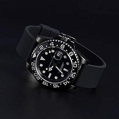 WOCCI-Silikon-Gummi-Uhrenarmband-mit-Schwarzer-Schnalle-Schnellverschluss-Ersatzarmband