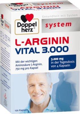 Doppelherz L-arginin Vital 3000 system Kapseln 120 stk