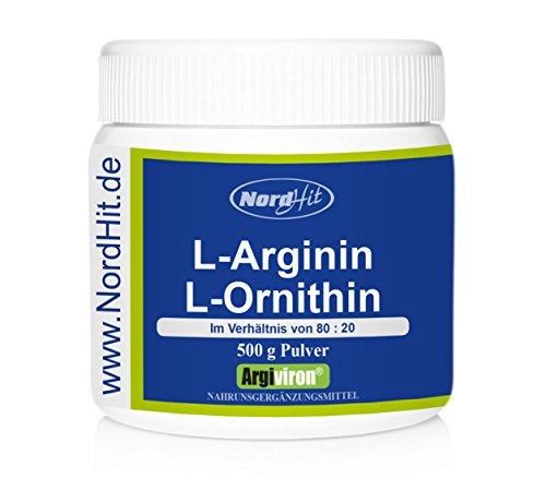 NordHit L-Arginin + L-Ornithin 80:20 – 500 g Pulver