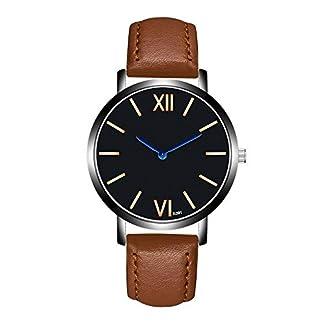 Roblue-Armbanduhr-Quarz-Herren-einfaches-Armband-rmische-Ziffern-Zifferblatt-aus-PU-Leder