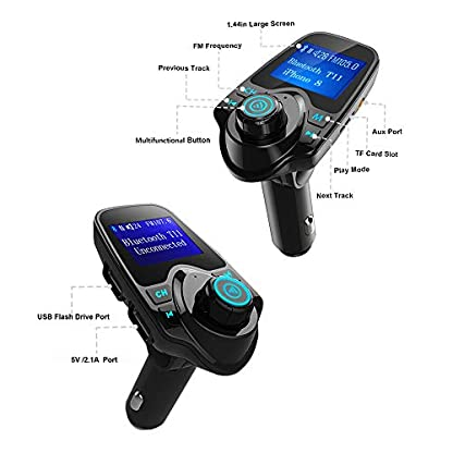 Bluetooth-FM-Transmitter-Freisprecheinrichtung-Auto-KFZ-Radio-Adapter-Car-Kit