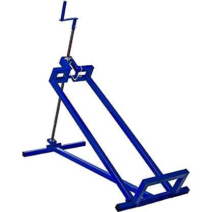 MASKO-XXL-Rasentraktorheber-400-kg-Hebevorrichtung-Hebebhne-Aufsitzmher-Reinigungshilfe-universal-Rasentraktor-Heber-Rasentraktor-45-Neigung-verstellbar-GRN