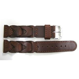 Speidel-20-mm-braun-breit-V-geflochten-Leder-Band