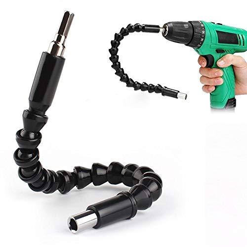 Flexible-Bohrerweiterung-Schraubenzieher-300-mm-weich-biegsam-fr-Schraubenzieher-Elektrobohrer-universal-aus-schwarzem-Kunststoff-und-Metall
