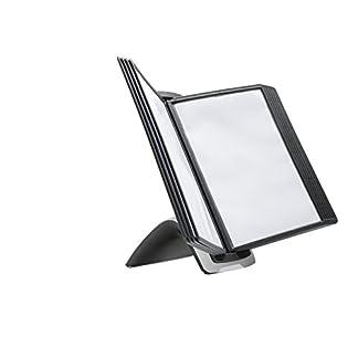 Durable-Sichttafelsystem-Sherpa-Style-inklusiv-10-schwarzen-Sichttafeln-A4