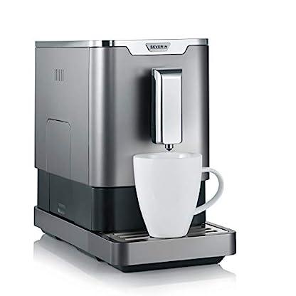 SEVERIN-Kaffeevollautomat-mit-Mahlwerk-Fr-Kaffeebohnen-Ultrakompaktes-Slim-Design-Eco-Modus-KV-8090-GrauSchwarz