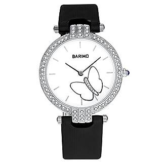 iLove-EU-Damen-Armbanduhr-Analog-Quarz-30M-Wasserdicht-Elegant-Schmetterling-Business-Casual-Leder-Band-Uhr-Farben-Blau-Rot-Wei-Schwarz
