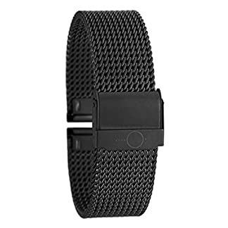 Eichmller-massives-22mm-BandOh-Edelstahl-Milanaise-Uhren-Armband-IP-Black