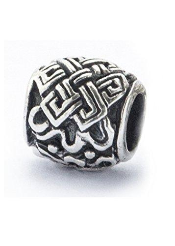 Bartperle / Perle für Dreadlocks / Schmuckperle mit keltischem Knoten aus Silber