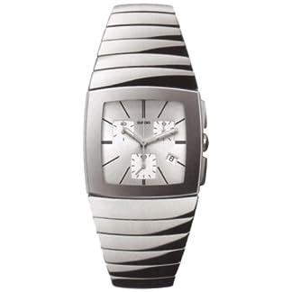 Rado-Sintra-Herren-Armbanduhr-Armband-Keramik-Silber-Schweizer-Quarz-R13434122