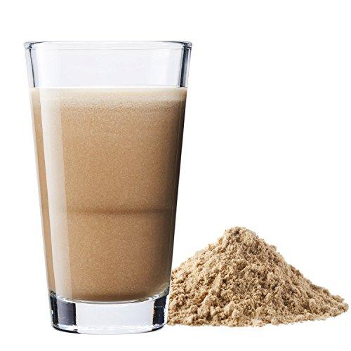 Vegan Protein (Haselnuss) – Protein aus Reis, Hanfsamen, Lupinen, Erbsen, Chia-Samen, Leinsamen, Amaranth, Sonnenblumen- und Kürbiskernen – 600 Gramm Pulver mit natürlichem Haselnuss Geschmack