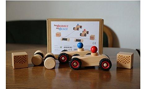 rewoodo-Ribble-Race-Autorennen-Rennspiel-2-Spieler-Modernes-Spielzeug-Auto-Kinder-3-Jahre-Junge-Mdchen-Fdelspiel-Holzspielzeug-Holzauto