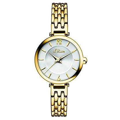 sOliver-Damen-Armbanduhr-Analog-Quarz-IP-Gold-SO-15099-MQR