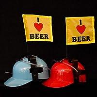 trendaffe-2er-Set-I-Love-Beer-Trinkhelme-mit-Fahnen-Bierhelm-Saufhelm-Helm-mit-Getrnkehalter
