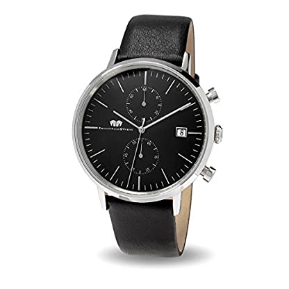 Rhodenwald-Shne-Hyperion-Herrenuhr-Chronograph-Edelstahl-Lederamband-Black-Black-5-ATM-Uhr-mit-Totalisator-und-Armband-in-Echtleder-Quarzuhr-Echtleder-Armband-Armbanduhr-analog