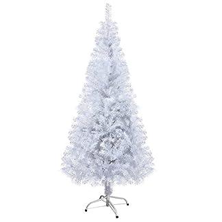 OZAVO-knstlicher-Weihnachtsbaum-Tannenbaum-120150180210-cm-Christbaum-in-Grn-in-wei-mit-Schnee-inkl-Metallstnder-schwer-entflammbar