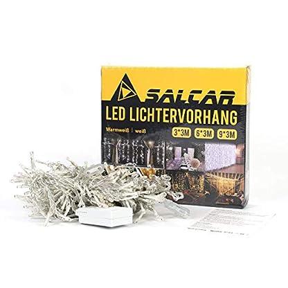 Salcar-LED-Lichtervorhang-3x3m-6x3m-9x3m-IP44-Sterne-Lichterkette-Lichtervorhang-fr-Weihnachten-Partydekoration-Innenbeleuchtung-8-Lichtprogramme-warmwei