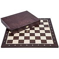 Pro-Schach-Set-Nr-5-Square-WENGE-LUX-Schachbrett-Schachfiguren-Staunton-5-Kasten-Schachspiel-aus-Holz
